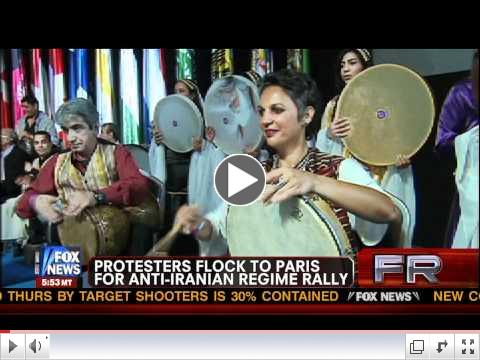 TV Fox News - Iranian gathering june 23 2012 Villepinte Paris