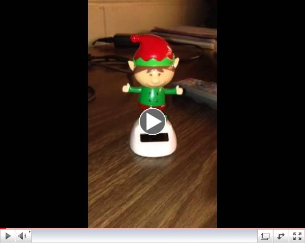 Elf dancing to music coded by Girls Inc. Girls!