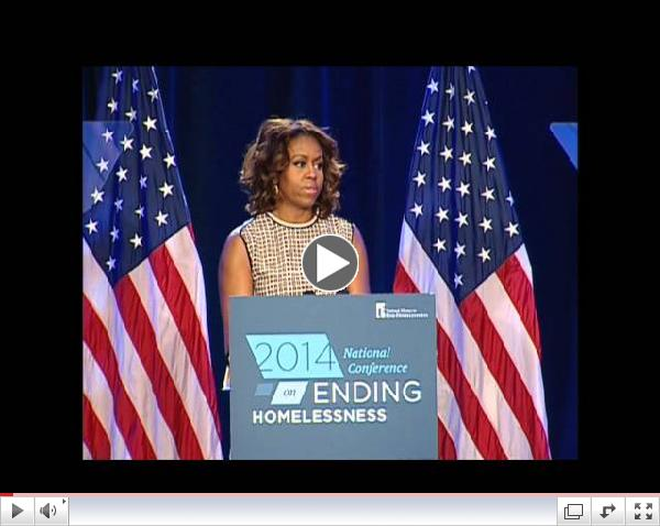 First Lady Michelle Obama's appearance at the 2014 Homelessness Conference