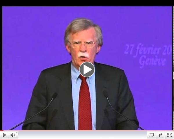 Speech By Amb. John Bollton, Int'l Conf. in Geneva