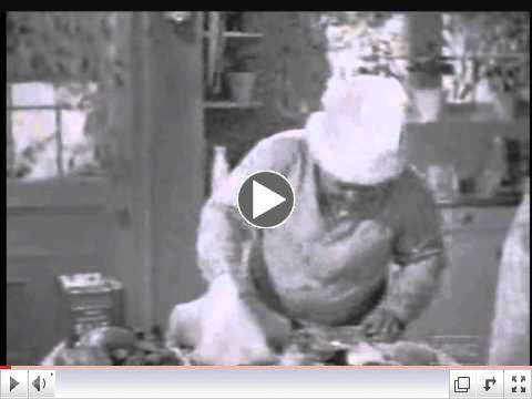 Three Stooges way to stuff a Turkey