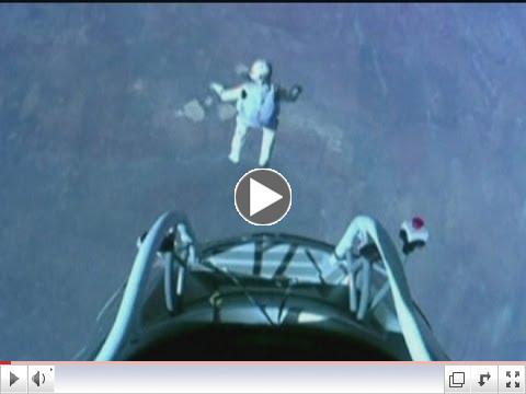 Space jump: Felix Baumgartner skydives 24 miles above Earth