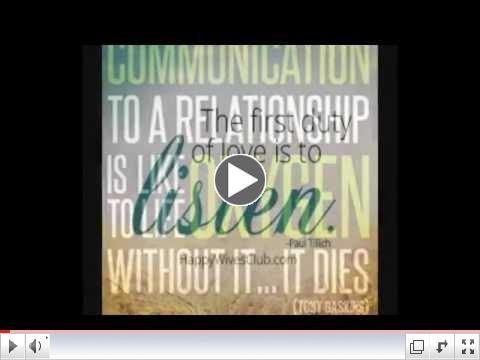 COMMUNICATION - The Oxygen of a Relationship