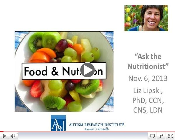Liz Lipski, PhD - Ask the Nutritionist