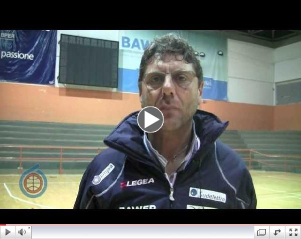 Il *match* visto dal *coach*: Benedetto introduce la partita contro Basket Recanati (01/12/2013)
