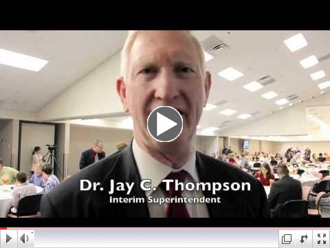Dr. Thompson congratulates BISD outstanding citizens