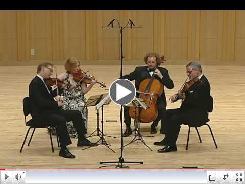 The American String Quartet - Ravel String Quartet in F Major - 1st Mvmt, Allegro Moderato