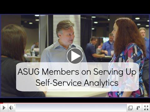 ASUG Members on Serving Up Self-Service Analytics