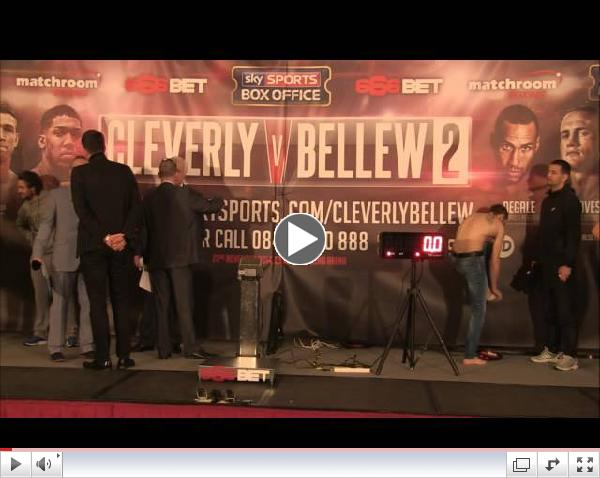 LIVE | Cleverly v Bellew 2 | The Weigh in | PLUS DeGale, Joshua, Groves, Quigg, McDonnell, Smith