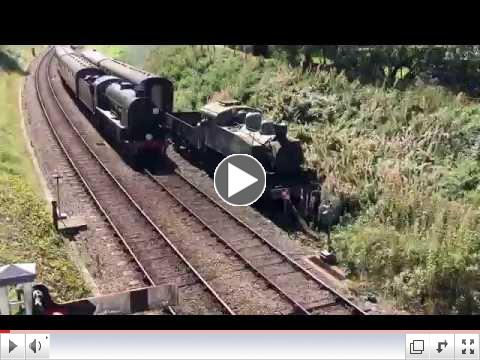The S15 on 7 Sept., 2016, on a slow climb out of Horsted Keynes, by