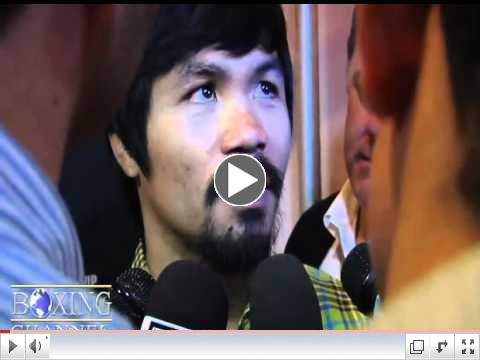 Manny Pacquiao opens up about Floyd Mayweather Jr. phone call