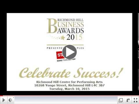 Richmond Hill Business Awards 2015 | 105.9 The Region