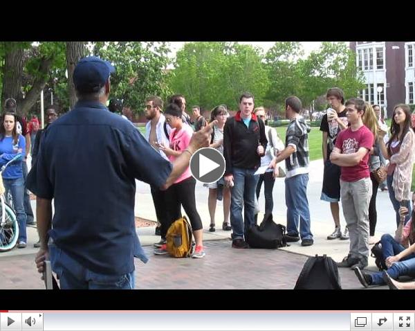 Fun with Jesus at Boise State, May 7 2014, part 1 of 2