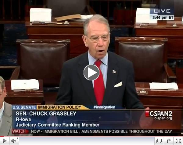 Chuck Grassley Objects To 60 Vote Threshold