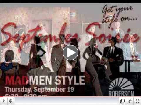 Roberson Hosting Mad Men Style September Soiree