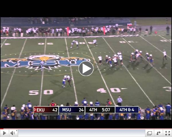 Crazy EKU Punt Play at Morehead State, Sept. 21, 2013