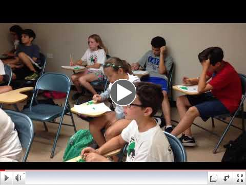 Class time - Tombola - Summer Camp, Day 15 - July 14, 2017 - Video 1