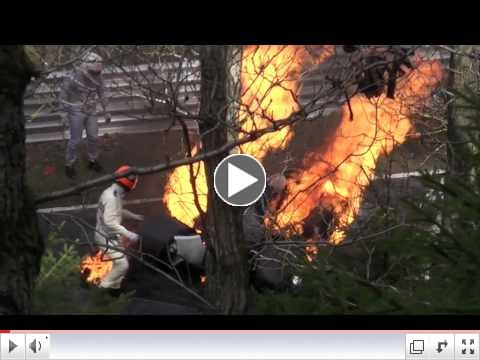 Niki Lauda's crash rescue at N??rburgring, as recreated by 'Rush'