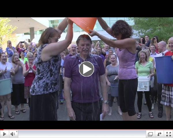 Salem Hospital CEO Norm Gruber takes the Ice Bucket Challenge
