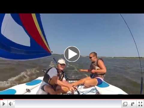Coastal Kayak Sailing Video - see how fun sailing can be!