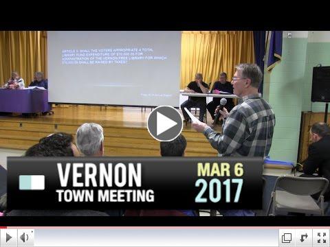 Vernon Town Meeting - Part 1