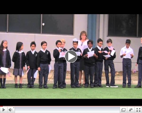 Mrs. Cornish's 4th Grade Class - 9/11 Anniversary Flag Salute (Fairmont Anaheim Hills Campus)