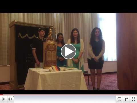 Bat Mitzvah ceremony of Ellen Voskoboynik in Jerusalem while on Taglit-Birthright Israel