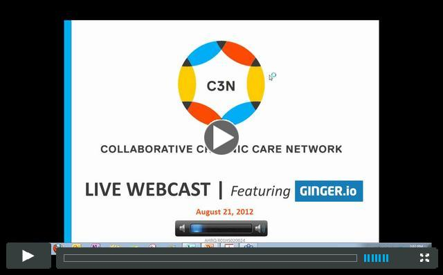C3N Live Webcast | Featuring Ginger.io