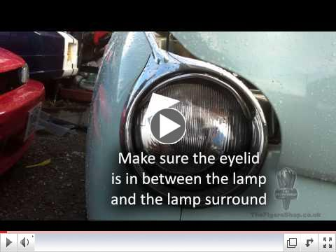Nissan Figaro EyeLid, Eyebrow fitting