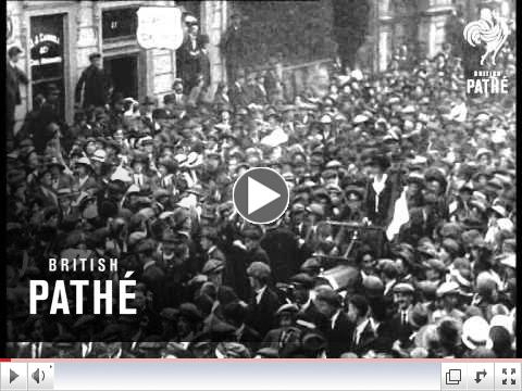 Countess Markievicz greeted in Dublin after her release from prison