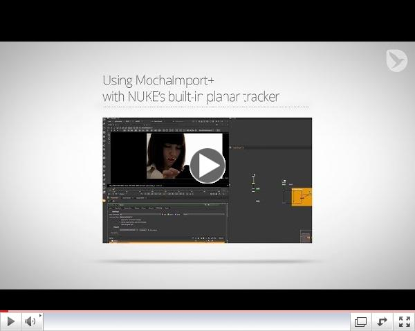 Using MochaImport+ with NUKE's built-in planar tracker
