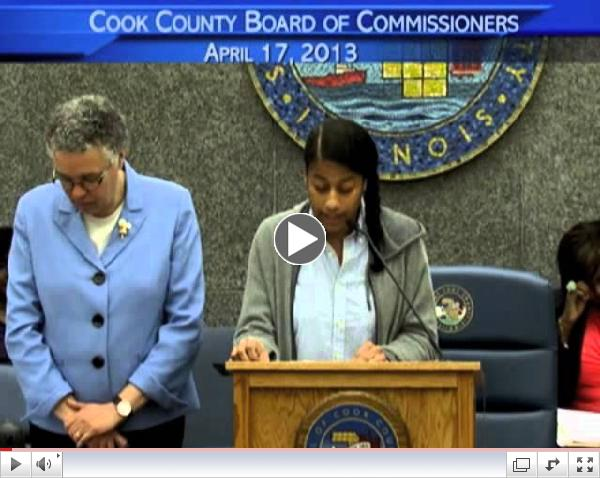 Invocation by Aja Monet: Cook County Board of Commissioner's Meeting