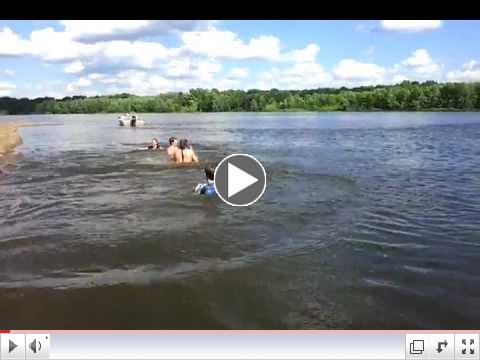 Jumping off the Sandbar 6-22-12