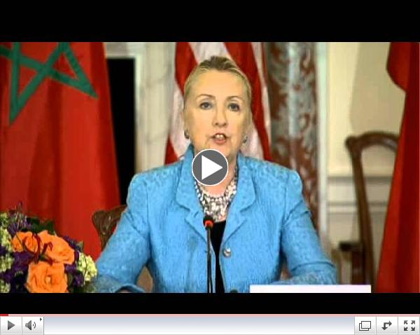 U.S. Secretary of State Hillary Clinton condemns anti-Islam video