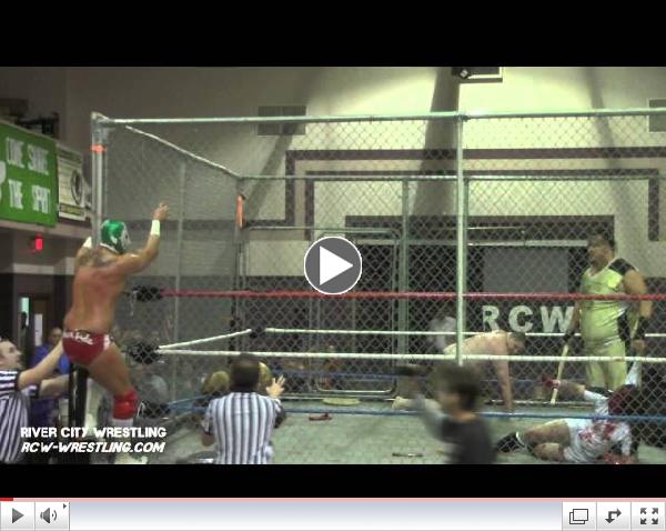 River City Wrestling (RCW) - Sicodelico Jr speaks after a brutal Steel Cage Match