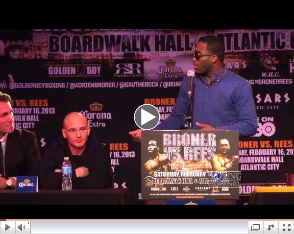 Adrien Broner confident and disrespectful of his opponent Gavin Rees at presser