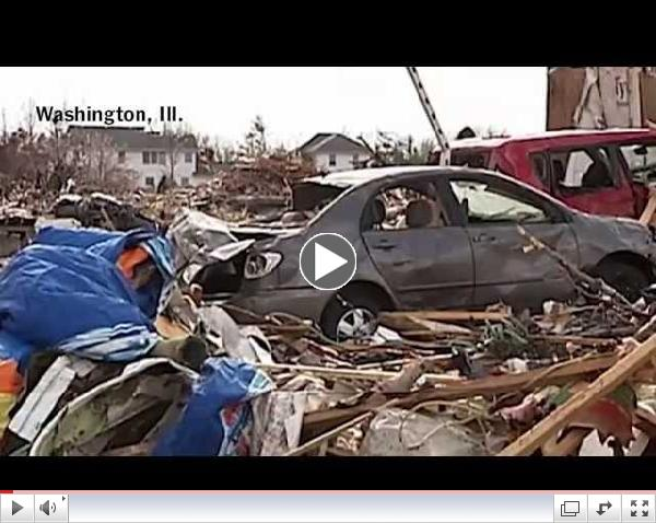Tornado Illinois 2013: Aftermath of Twister Destruction in Midwest