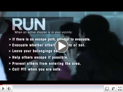 YouTube Video:  Surviving an Active Shooter Event