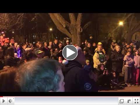 The Crowd Sings Jingle Bells