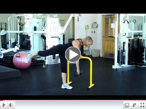 Fitness Pointe One Leg  Plank Squat and Deadlift Plank