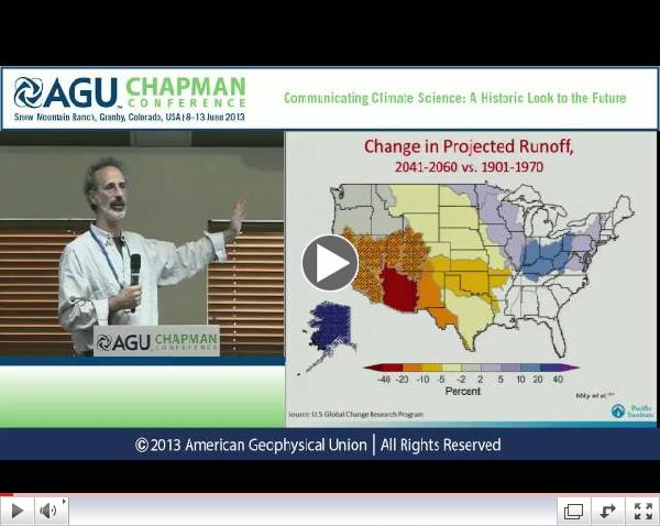Peter Gleick at the AGU Chapman Conference on Climate Science