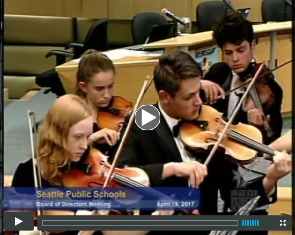 Chamber Orchestra | SPS Board Meeting | April 19, 2017