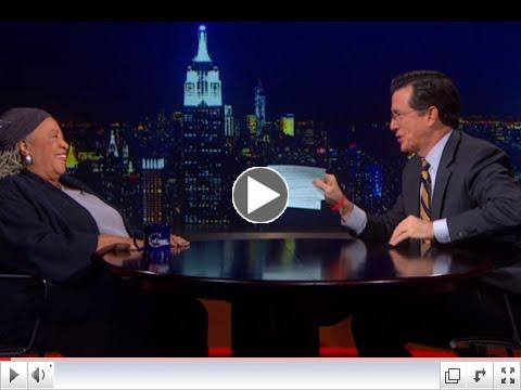 Toni Morrison completely schools Stephen Colbert on the topic of racism