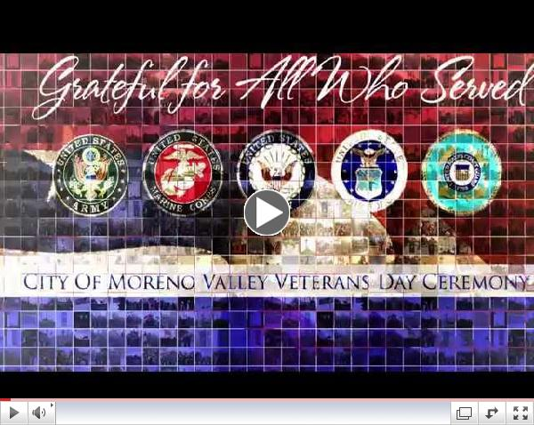 Click to watch 2014 Moreno Valley Veterans Day Promo