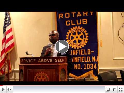 Mayor Mapp Plainfield North Plainfield Rotary April 2015