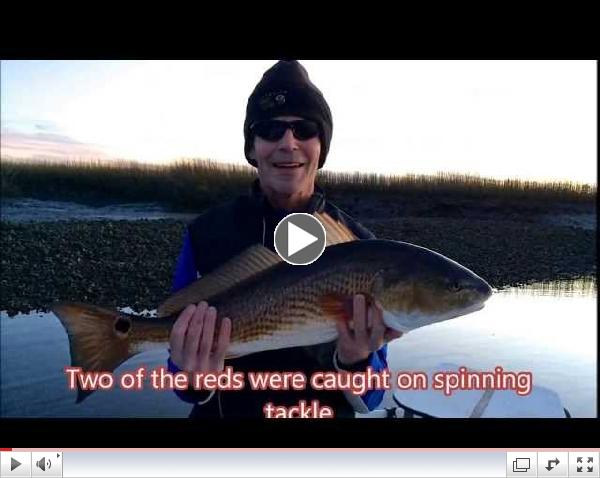 Winter Time Fishing For Red Fish at St. Simons, GA