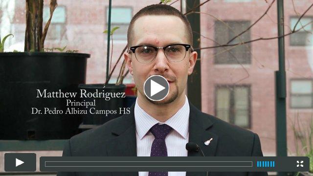 Principal Matthew Rodriguez Celebrates Clemente's 40th