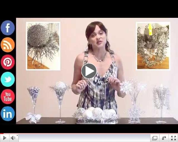 How 2 Make DIY Holiday Party Centerpieces