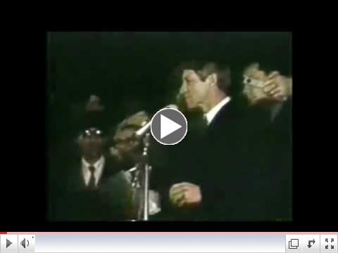 Bobby Kennedy announcing that Martin Luther King Jr. had been shot and killed