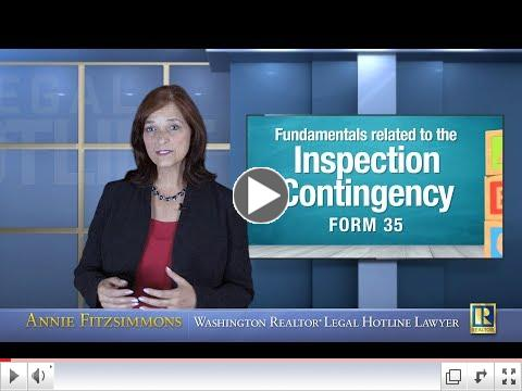 Fundamentals Related to the Inspection Contingency - Form 35